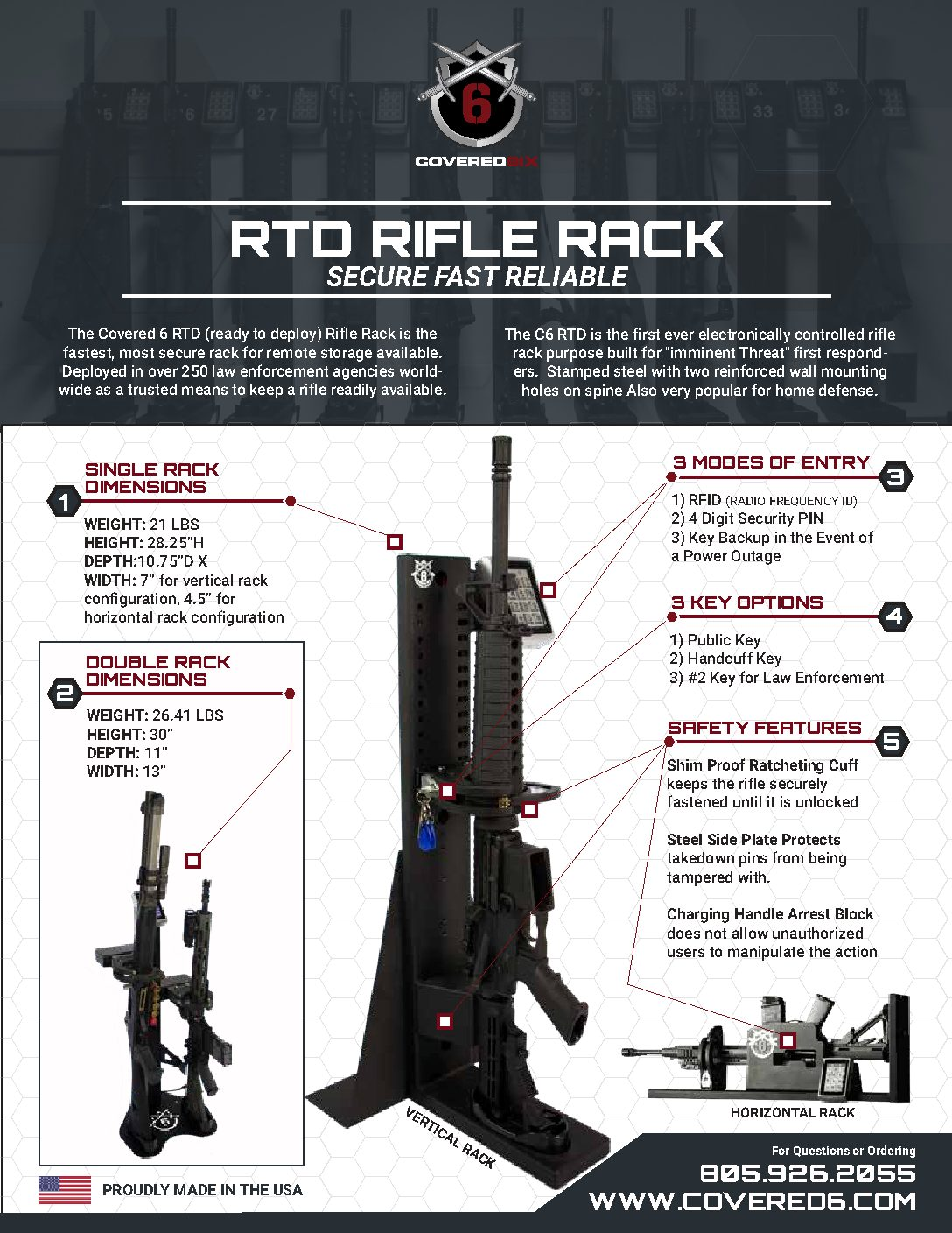 Ready Rifle Electronic Rack | Covered 6